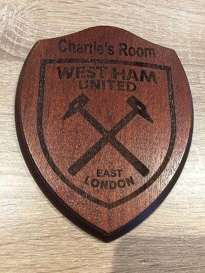 WHUFC Bedroom Door Plaque