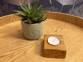 Olive Hand Crafted Tealight Holder (1)