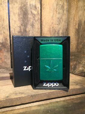 Zippo Lighter - Stamped Leaf