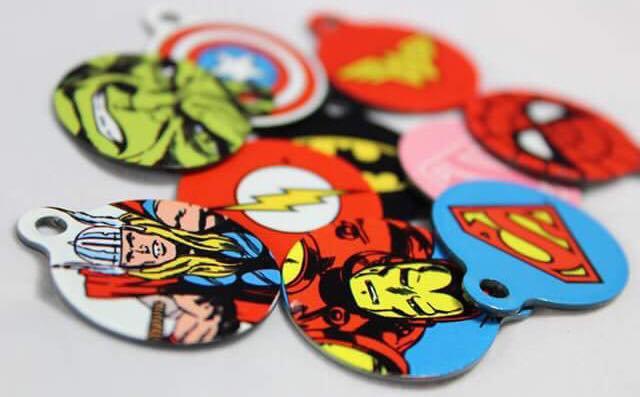 Super Hero 25mm Pet Tag