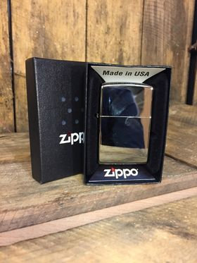 Zippo Lighter - Regular Hi Polished Chrome