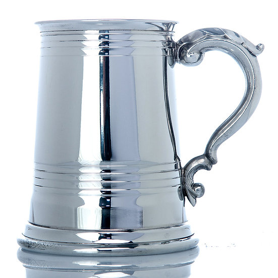 Pewter One Pint Tankard - Worcester