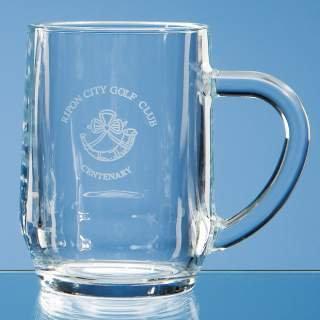 Glass Pint Tankard - Mancunian Design