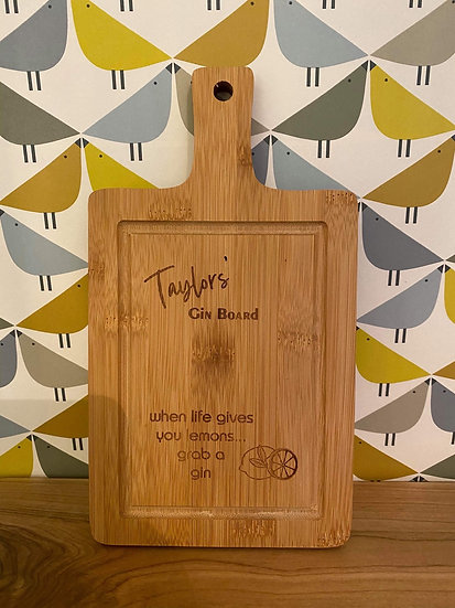 Small Bamboo Chopping Board (price includes engraving)