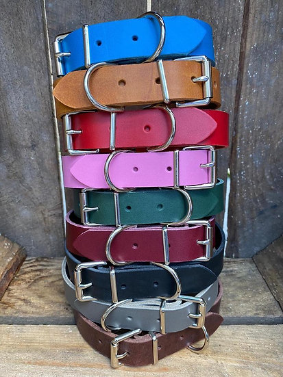 Bespoke Made Engraved Leather Dog Collar