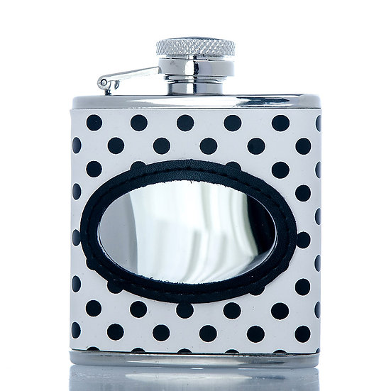 Hip Flask - 4oz With Dotty Design