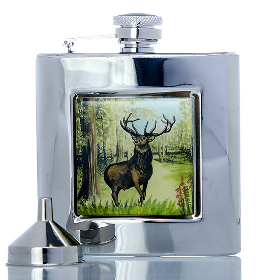 Hip Flask 6oz -Stag