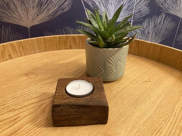Walnut Hand Crafted Tealight Holder (1)