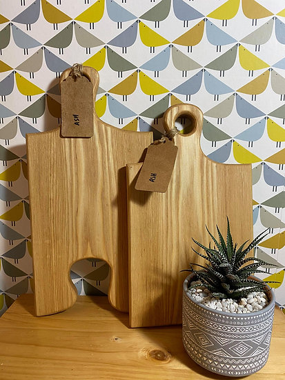 Pair of Locally Made Ash Chopping Boards (price includes engraving