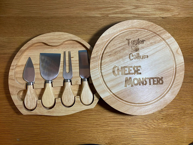 Cheese Knife Serving Board Set