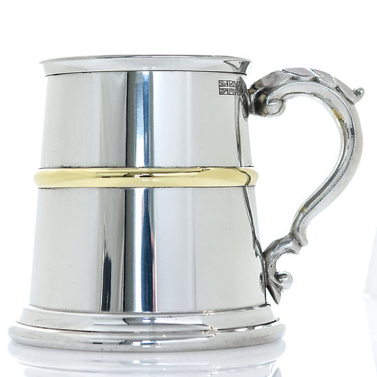 Pewter One Pint Heavy Tankard - Franklin