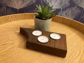 Walnut Hand Crafted Tealight Holder (3)