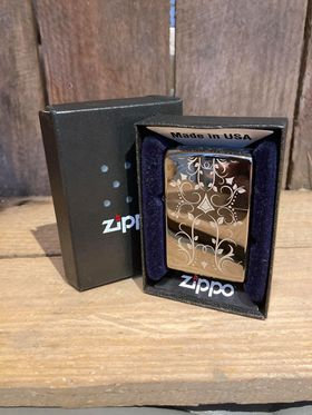 Zippo Lighter - Black Ice Filigree
