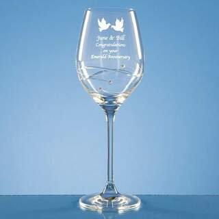Wine Glass Spiral Diamante Design