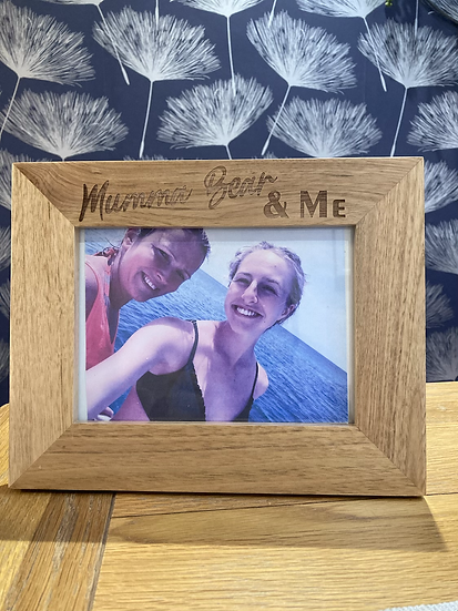 Mummy/Mothers Day Oak Picture Frame