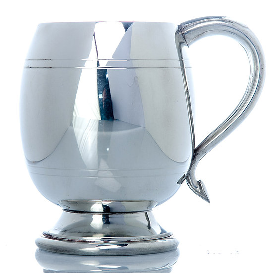 Pewter One Pint Tankard - Barrel
