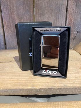 Zippo Lighter - Slim Hi Polish Chrome