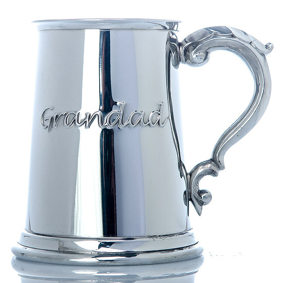 Pewter One Pint Grandad Tankard