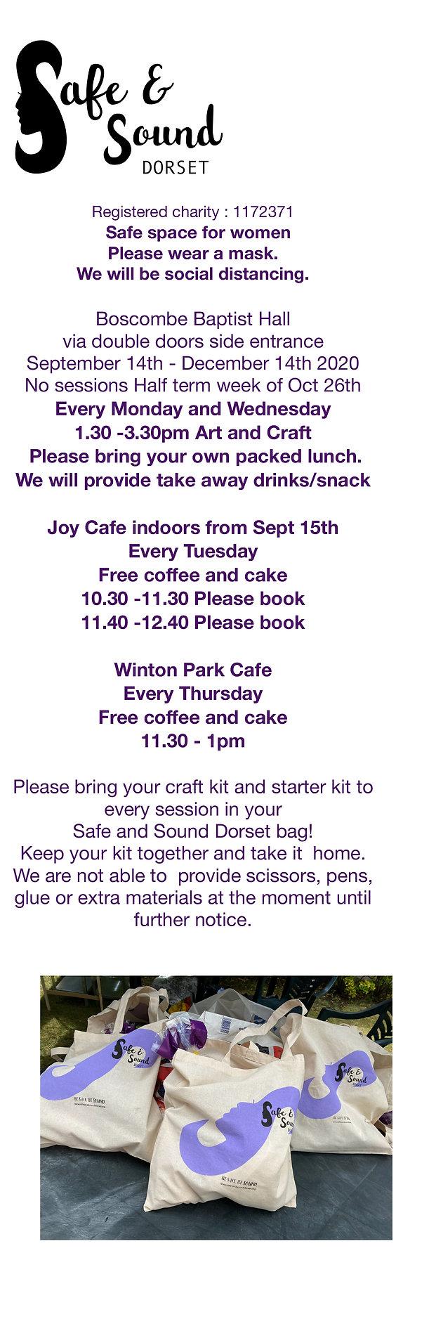 Safe and Sound Dorset Autumn 2020 Sessio