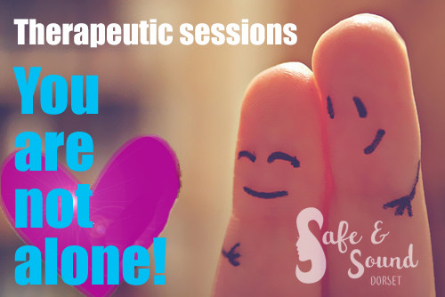 you are not alone fingers logo heart the