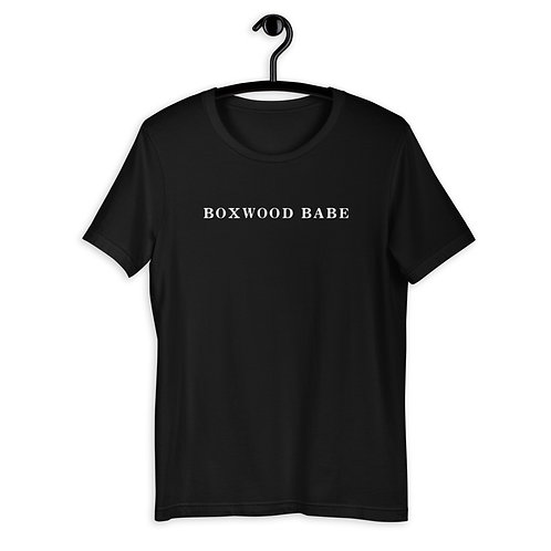 Boxwood Babe Black T-shirt