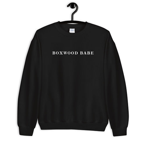 Boxwood Babe Black Sweatshirt