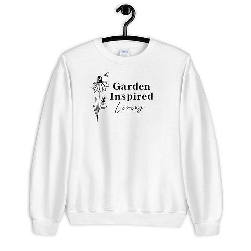 Garden Inspired Living White Sweatshirt