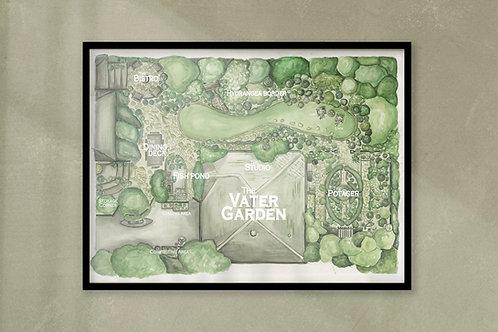The Vater Garden Portrait: Full Color, Digital Download