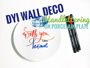 COOL DIY Wall Deco with Porcelaine Markers