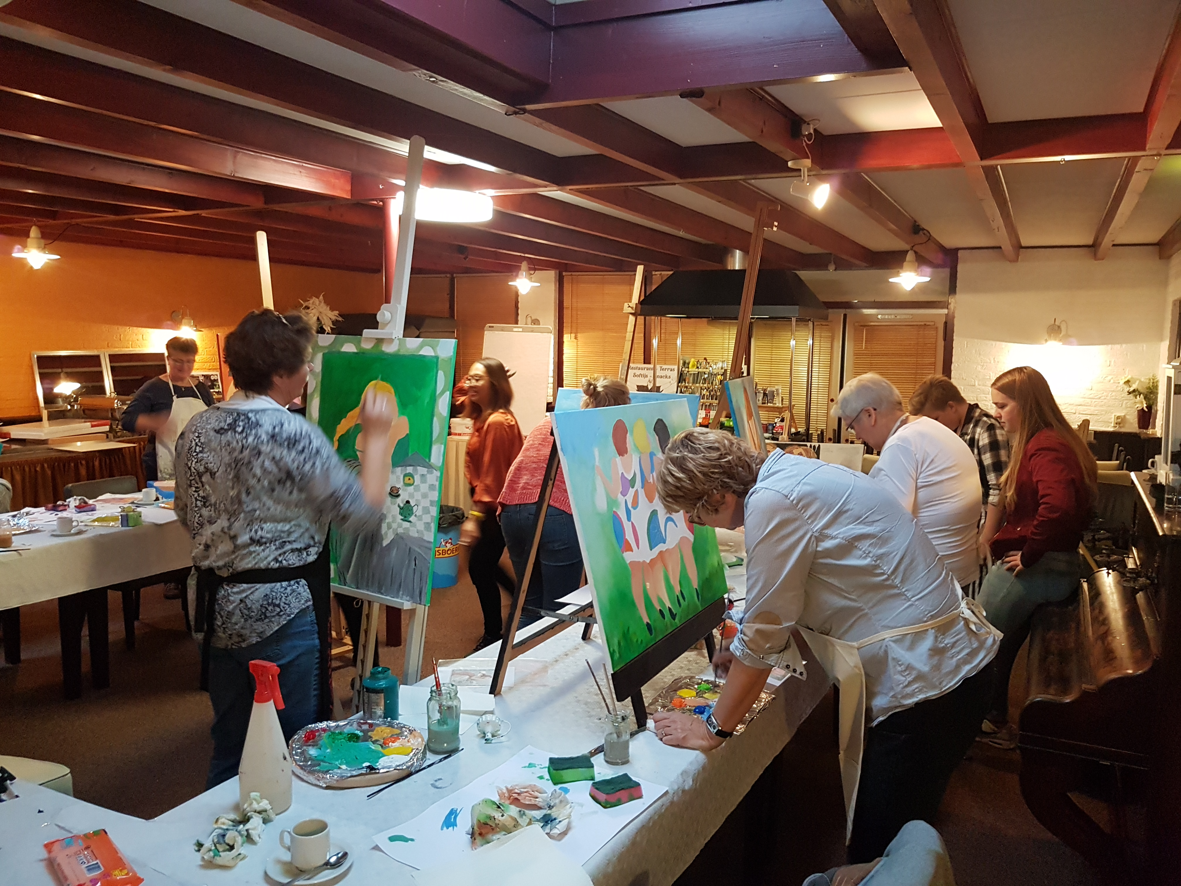Painting workshop Thema: Dikkedames