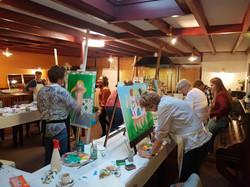 Painting workshop Thema: Dikkedames