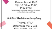 New list of Creative workshop This coming May.