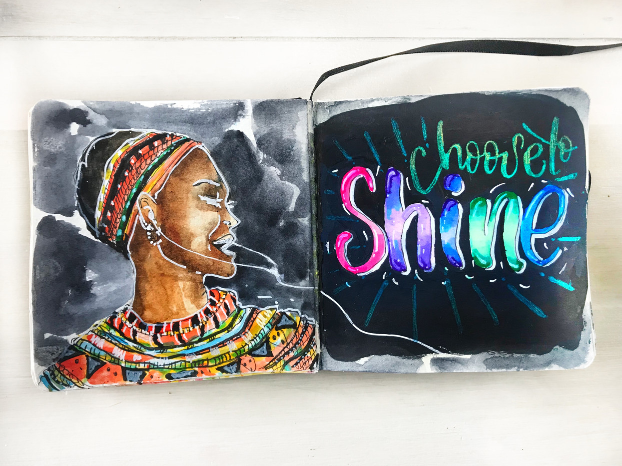 Art Journal with handlettering