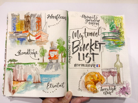 Travel journal *Normandy*