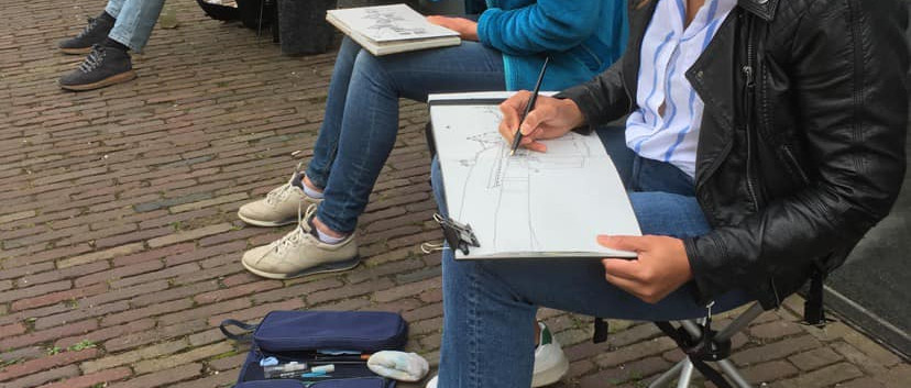 With Urban Sketchers Assen