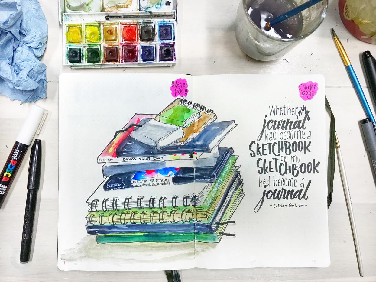 my journal became sketchbook and my sketchbooik became artjournal