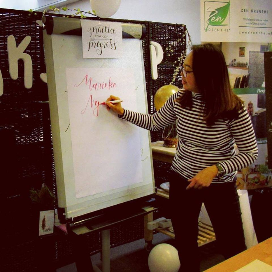 Handlettering workshop @TasteofZen