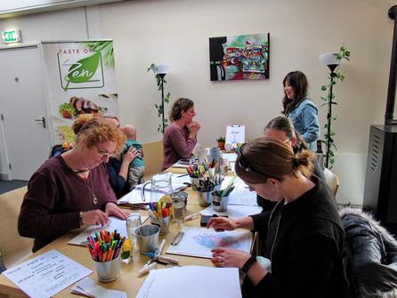 Workshop handlettering at Taste of Zen