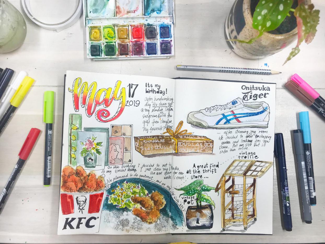 My birthday sketch journal