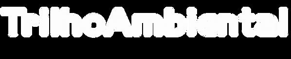Logo da Trilho Ambiental somente o nome na cor branca
