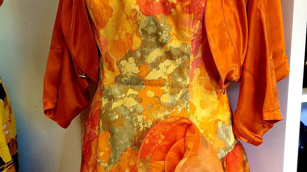 *TEST* NOT FOR SALE * 1980s strapless dress incl bolero