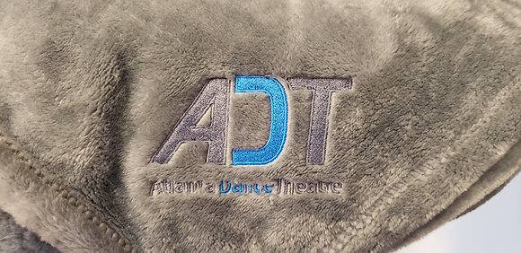 Gray ADT Logo Fleece Blanket