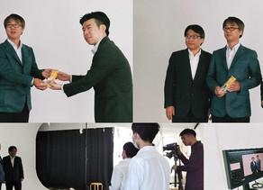 EYIS受賞につき、トロフィー授与及び撮影会を実施