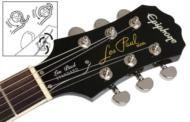 Les paul guitar head stock