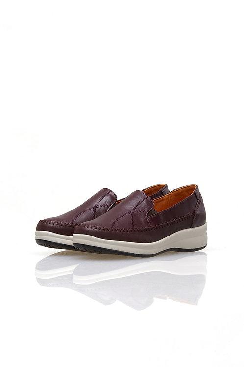 Leather Stitch Slip-on (WINE)