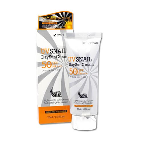 3W Clinic  UV Snail Day Sun Cream SPF 50+/PA+++ 70ml