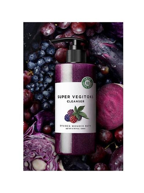 Wonder Bath Super Vegitoks Cleanser - Purple  200ml