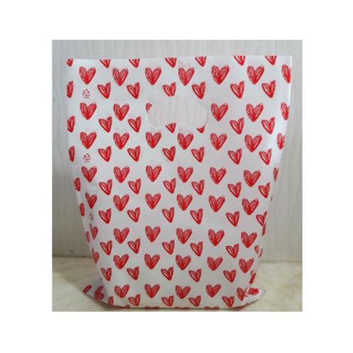 Plastic Bag  x 100ea - Heart