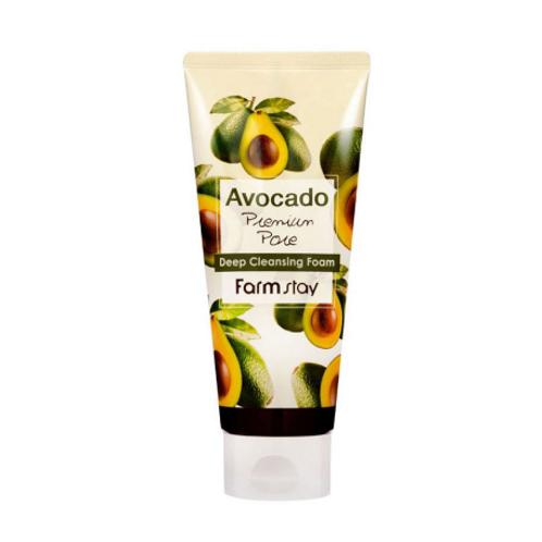Farmstay Avocado Premium Pore Deep Cleansing Foam 180ml