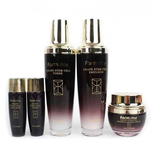 FarmStay GRAPE STEM CELL SKIN CARE 3SET Восстанавливающий набор